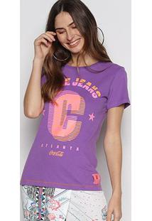 Camiseta Coca Cola Atlanta Feminina - Feminino-Roxo