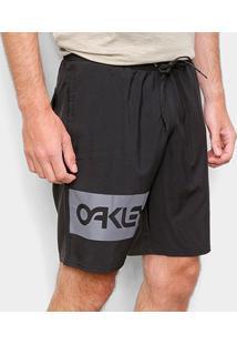 Bermuda Oakley Mark Ii Trunks Masculina - Masculino-Preto