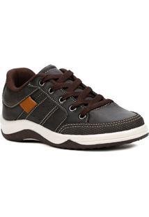 Sapato Kid + Infantil Para Menino - Marrom/Bege