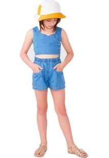 Chapéu Infantil Unissex Em Sarja Branco