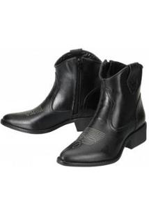 Bota Ankle Boot Dududias10 Feminina - Feminino-Preto