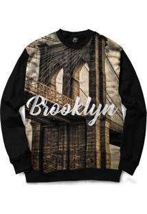Blusa Bsc Brooklyn Full Print - Masculino-Preto