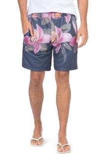 Bermuda Taco Jogger Flores Masculina - Masculino
