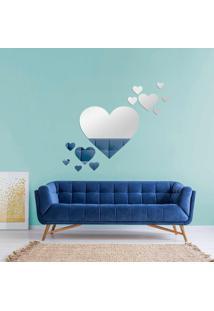 Espelho Love Decor Decorativo Kit Corações Único - Kanui