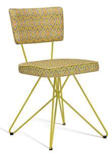 Cadeira De Jantar Butterfly Retrô Amarelo