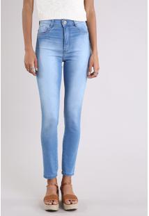 b30a86fbc Calça Jeans Feminina Hot Pant Sawary Super Skinny Azul Claro