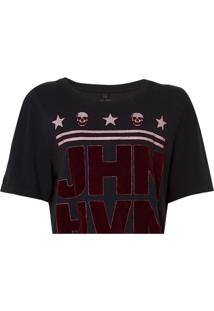 Camiseta John John Logo Feminina (Preto, P)