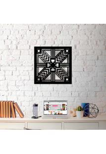 Escultura De Parede Wevans Mandala Geometrico + Espelho Decorativo -