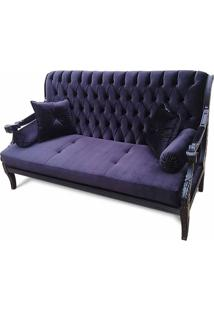 Sofa Artesanal Em Capitone Com Pinturas E Tecidos Personalizados