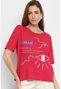 Camiseta Cantão Olhar Feminina - Feminino-Rosa