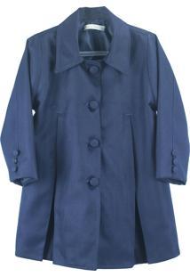 Casaco Pipoca Doce De Lã Azul Marinho