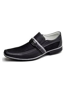 Sapato Social Novo Habito Masculino Sola Antiderrapante Leve Preto
