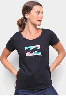 Camiseta Baby Look Billabong Forward Felling Feminina - Feminino-Preto
