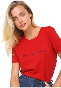 Camiseta Tommy Hilfiger Essential Crew Neck Vermelha