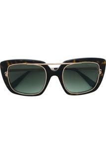 8608e06b9cabf Tom Ford Eyewear Óculos De Sol Oversized - Marrom