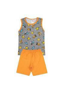 Pijama Regata Infantil Bang Cinza 841 - Kappes