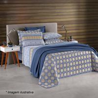 57e8a8cf78 Conjunto De Cobre-Leito Aline King Size- Azul   Amarelo