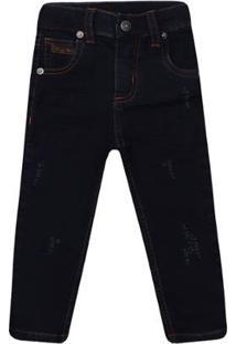 Calça Infantil 1Mais1 Moletinho Jeans Masculina - Masculino