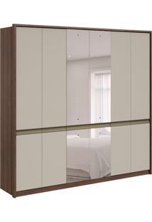 Guarda-Roupa Casal Com Espelho Urban 6 Pt 6 Gv Imbuia E Off White