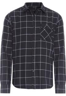 Camisa Masculina Bruno - Preto