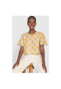 Camiseta Forum Poá Bege/Amarela