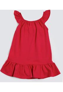 Vestido Infantil Piquet Babado Marisa