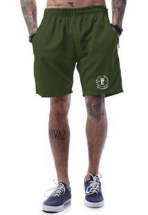 Bermuda Tactel Ezok Sk8 - Masculino-Verde Militar