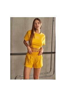 Camiseta Colcci - Amarelo Hot Box