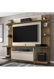 Estante Para Tv Até 55 Polegadas 1 Porta New Torino Cinamomo/Off White - Bechara Móveis