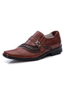 Sapato Social Masculino Moderno Conforto Ranster - 006 Marrom Claro