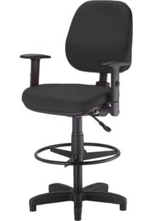 Cadeira Corporate Executiva Cor Preto Com Base Caixa - 43993 - Sun House