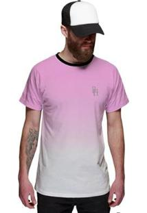 Camiseta Di Nuevo Degradê Top Masculina - Masculino-Rosa