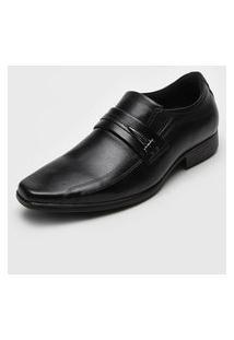 Sapato Social Pegada Recortes Preto