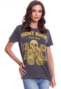 Camiseta Jazz Brasil Night Rock Preto Estonado