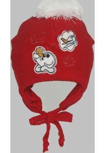 Touca Bebê Soft - Masculino-Vermelho