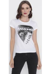 Camiseta Com Inscrições - Branca & Pretacavalera