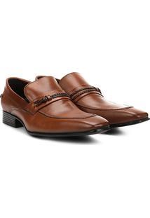 Sapato Social Couro Jorge Bischoff Estugarda - Masculino-Marrom