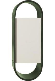 Armário Para Banheiro Wish 1 Pt Verde Musgo E Branco