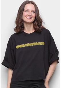 Camiseta Colcci Inspiration Feminina - Feminino-Preto