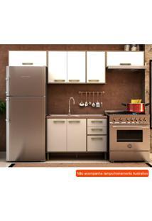 Cozinha Compacta Vitória Ii 7 Pt 3 Gv Branca E Avelã