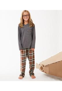 Pijama Longo Manga Longa Flanela Ártico Kids Masculino