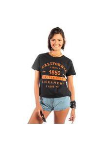 Camiseta Feminina Mirat California 1850 Preto