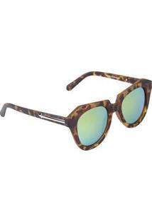 Óculos De Sol Butterfly Feminino Geométrico Espelhado