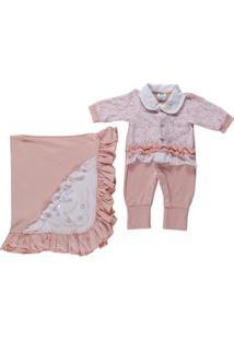 Enxoval Infantil Para Bebê Menina - Salmão