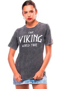 Camiseta Estonada Vikings Useliverpool Preta
