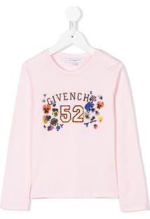 Givenchy Kids Moletom Com Logo - Rosa