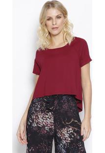 Camiseta Lisa Com Tag - Bordã´ - Sommersommer