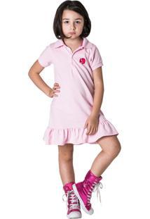 Vestido Piquet Comfy Rosa