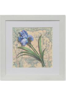 Quadro Floral I Kapos Branco 23X23Cm