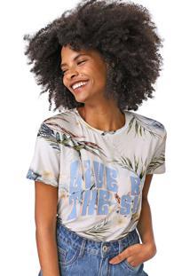 Camiseta Lez A Lez Keeling Azul/Verde - Azul - Feminino - Viscose - Dafiti